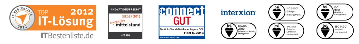 Auszeichnungen VoIP-Anbieter toplink Xpress