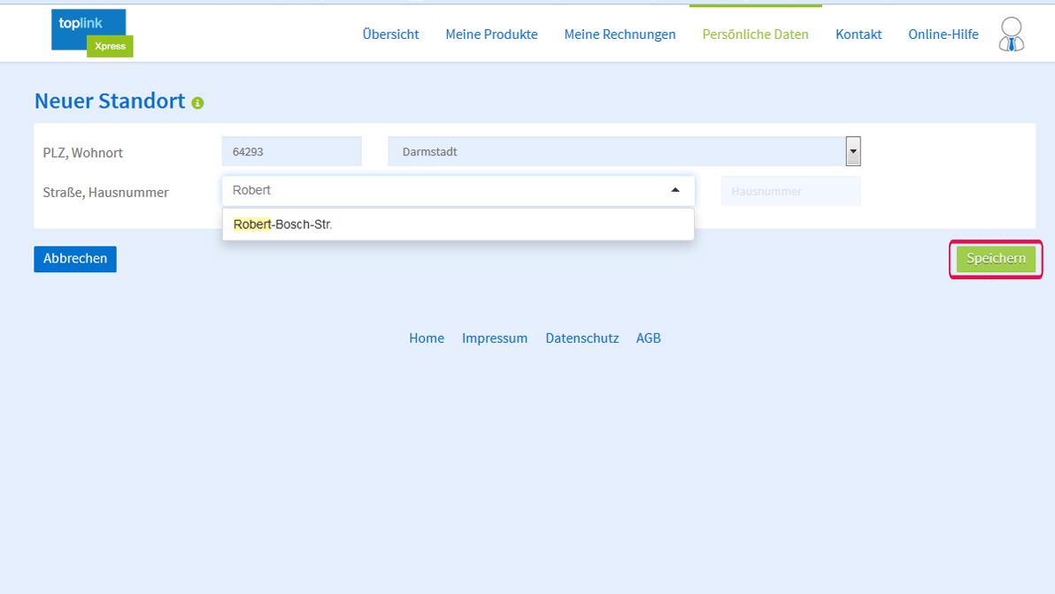 IP Anschluss Anbieter toplink Xpress- Anmeldung von einem Standort