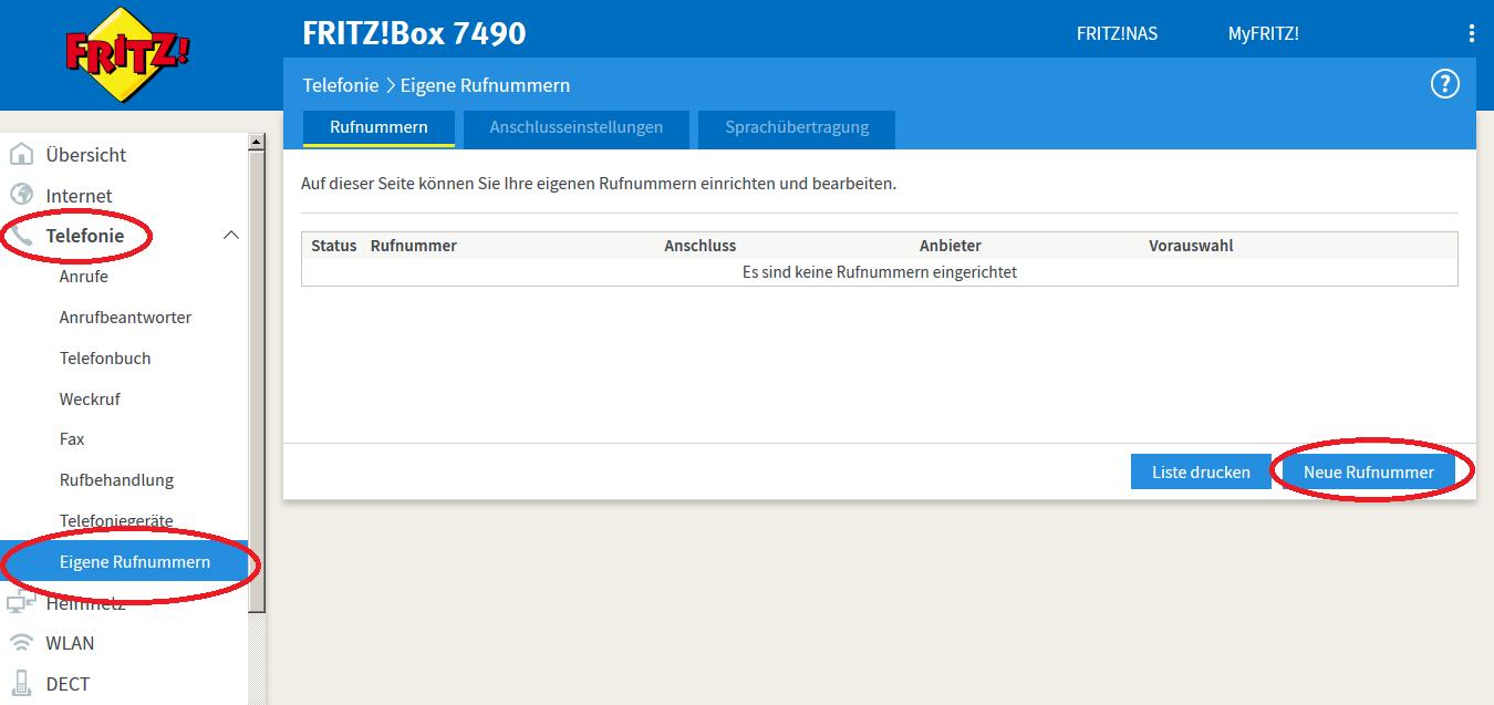 IP Anschluss an der Fritzbox einrichten   toplink Xpress